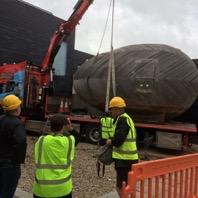Stephen Turner's Exbury Egg arrives at Jerwood Gallery, Hastings, 2017