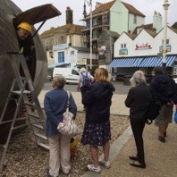 Stephen Turner's Exbury Egg arrival in Hastings, 2017
