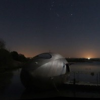 Exbury Egg on Beaulieu River at night, 2014