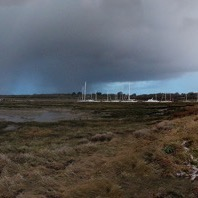 Exbury Egg on Beaulieu River in hail storm