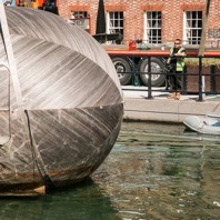 Stephen Turner's Exbury Egg installation at Gunwharf Quays, 2017 Photo: Sarkiz Mutafyan