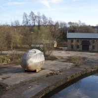 Exbury Egg on location at Finsley Gate, Burnley